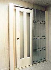 Кассета для двери-купе, уходящей внутрь стены